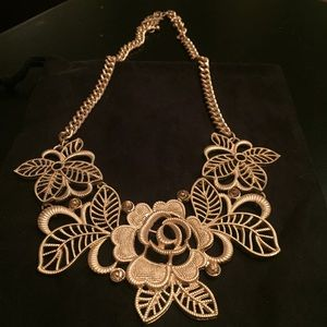 Jewelry - Brand new Gold Vintage Lace Cutout necklace